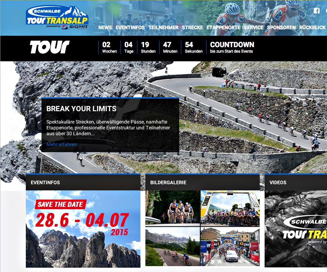 TOUR Transalp 2015 / Countdown